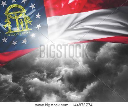 Georgia flag on a bad day