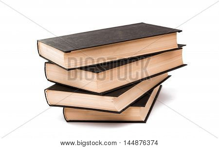 book hardcover leather on a white background