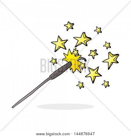 freehand drawn cartoon sparkler
