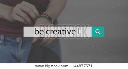 Be Different Creative You Idea Search Concept