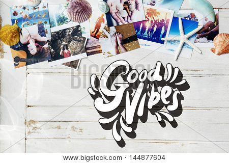 Good Vibes Positive Motivation Inspiration Concept