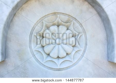 Marble carving beautiful flowers patterned texture and background