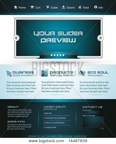 Business Webtemplate or Wordpress Blog Graphic with Modern Clean lines.