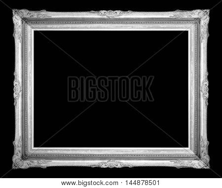 antique frame isolated on a black background