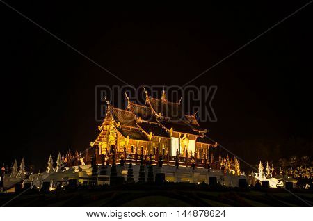 Royal Pavilion or Ho Kham Luang in thai name,Chiang Mai at North of Thailand.