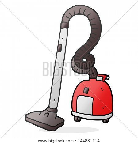 freehand drawn cartoon vacuum cleaner