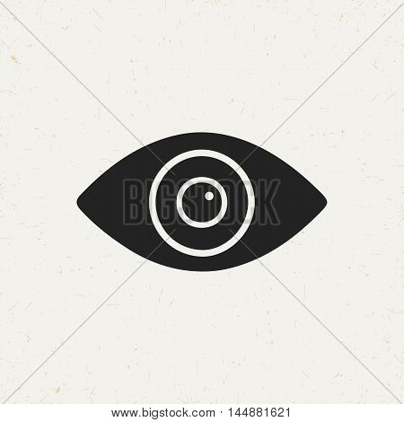 Isolated eye symbol in vintage style. Flat vector icon for web sites and apps.