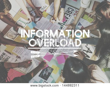 Information Overload Data Info Management Concept