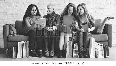 People Diversity Women Fun Enjoyment Concept