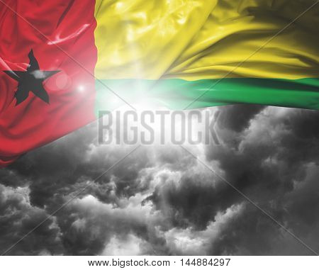 Guinea Bissau flag on a bad day