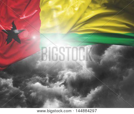 Guinea Bissau flag on a bad day