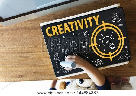 Creativity Lightbulb Technology Message Icon Concept