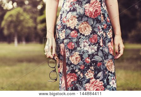 Woman Trendy Lifestyle Relax Lonely Concept