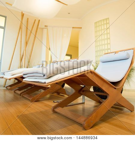 Place for relaxation in modern wellness center