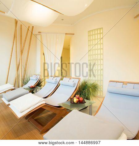 Exclusive design of new modern spa interior