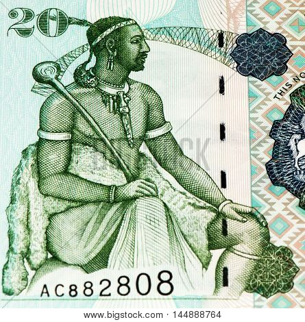 20 Lesotho loti bank note. Lesotho loti is the national currency of Lesotho