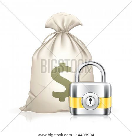 Lock and moneybag, bitmap copy