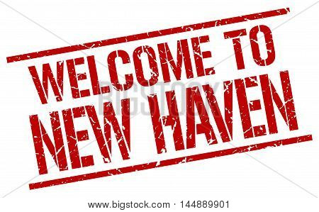 welcome to New Haven. stamp. grunge square sign