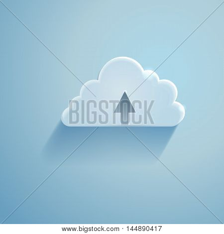 Vector Single Icon - Cloud Storage