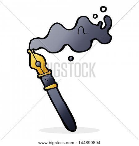 cartoon fountain pen