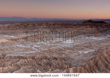 Sunset at Valle de la Muerte (Death Valley), Atacama Desert, Chile