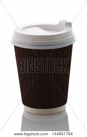 Take out coffee cup on a white background. Isolate