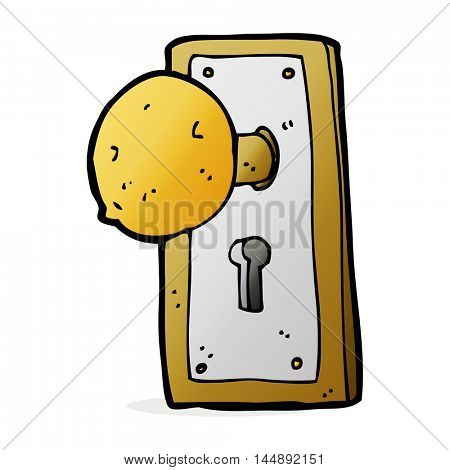 cartoon old door knob