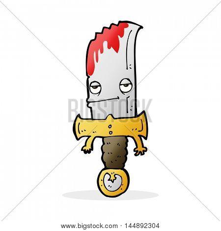 bloody knife cartoon character