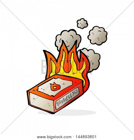 cartoon pack of matches
