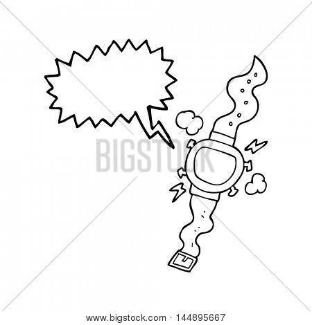 freehand drawn speech bubble cartoon wrist watch