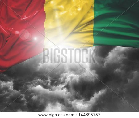 Guinea flag on a bad day