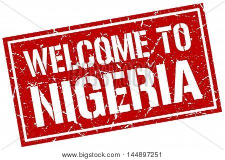 welcome to Nigeria. stamp. grunge square sign