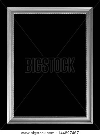 Vintage picture frame isolated on blck background