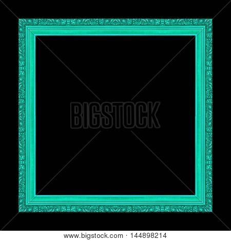 antique old frame isolated on black background