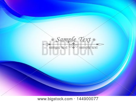 light blue background oval shape,gentle, pleasant in the middle there is a place for text