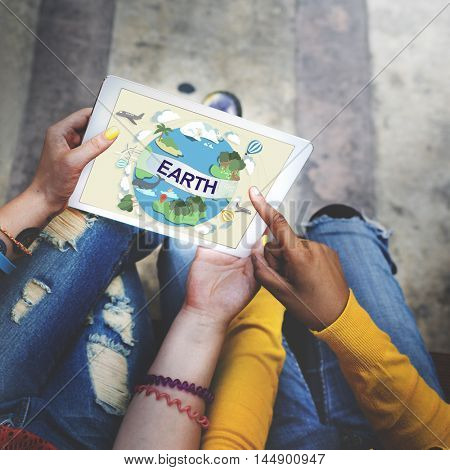 Earth Ecology Environment Conservation Globe Concept