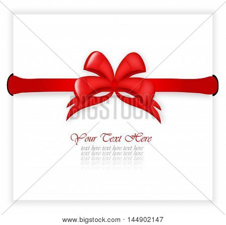 Certificate With Red Bow