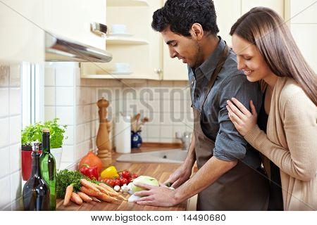 Homemaker Preparing Lunch
