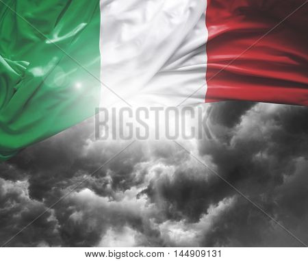 Italy flag on a bad day