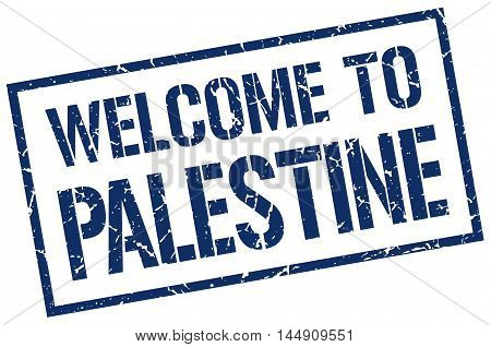 welcome to Palestine. stamp. grunge square sign
