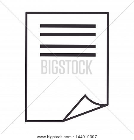 paper sheet page white document note silhouette vector illustration