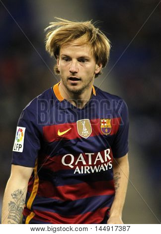 BARCELONA, SPAIN - JAN, 13: Ivan Rakitic of FC Barcelona during a Spanish Kings Cup match against RCD Espanyol at the Power8 stadium on January 13, 2016 in Barcelona, Spain