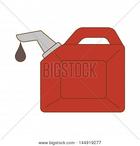 oil bottle container drop liquid gallon handle vector illustration