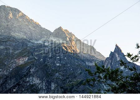 High Tatra mountains peaks visible from polish side.