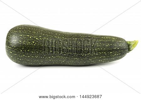 close up of green marrow isolated over white