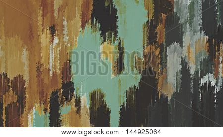 brown blue and green painting texture abstract background