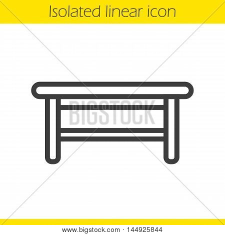 Kitchen table linear icon. Thin line illustration. Contour symbol. Vector isolated outline drawing