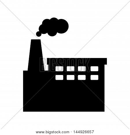 factory building plant industrial zone production silhouette vector illustration