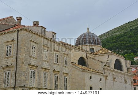 Buildings in the historic Adriatic town of Dubrovnik.