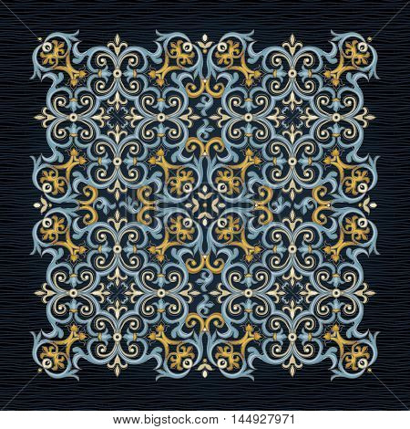 Vector Vintage Pattern In Victorian Style.
